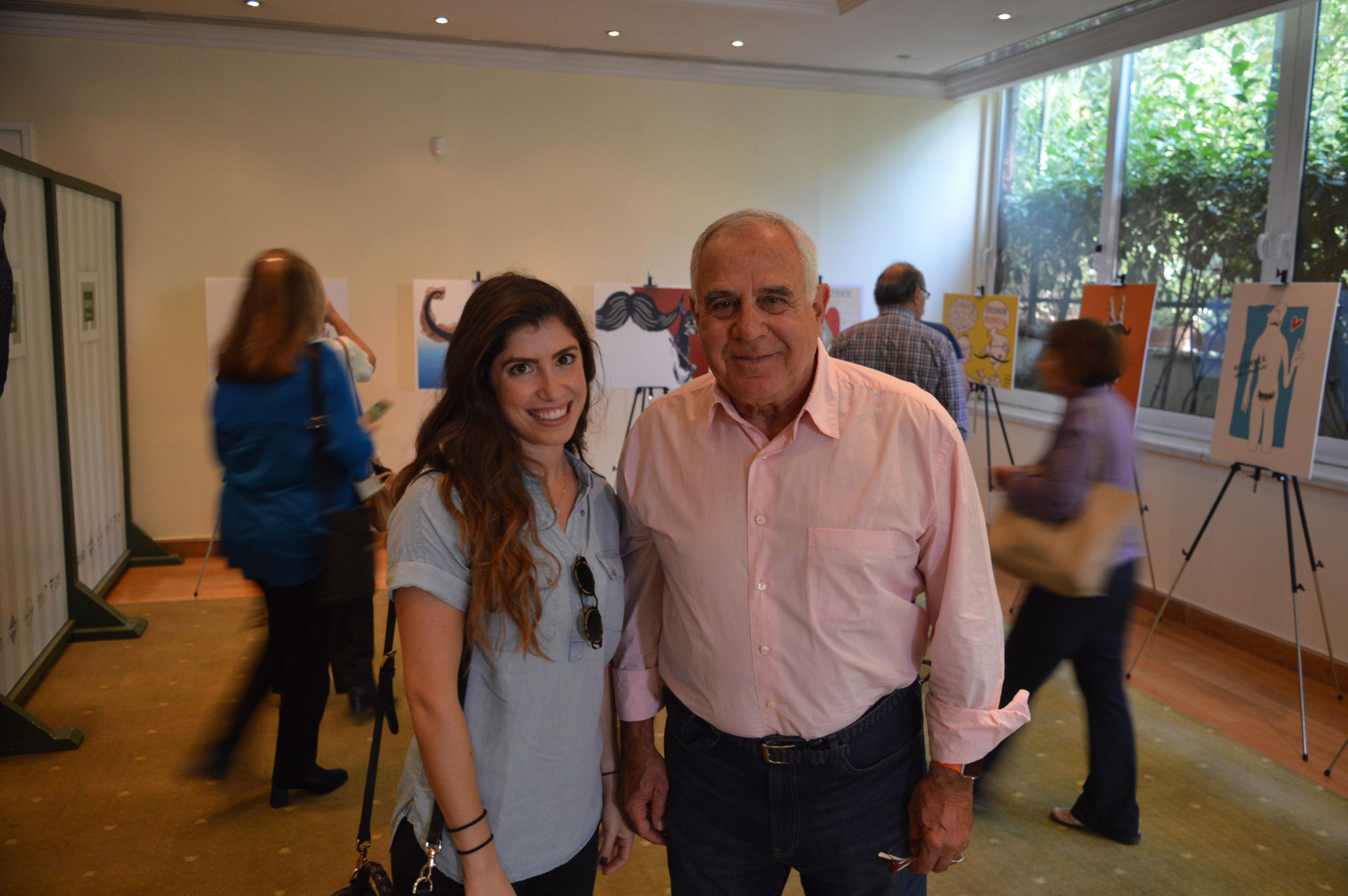 Αγγελική Γκούβαλη και ο Πρόεδρος του Συλλόγου Παλαίμαχων Αθλητών Καλαθοσφαίρισης Ελλάδας Αντώνης Κυρίτσης.