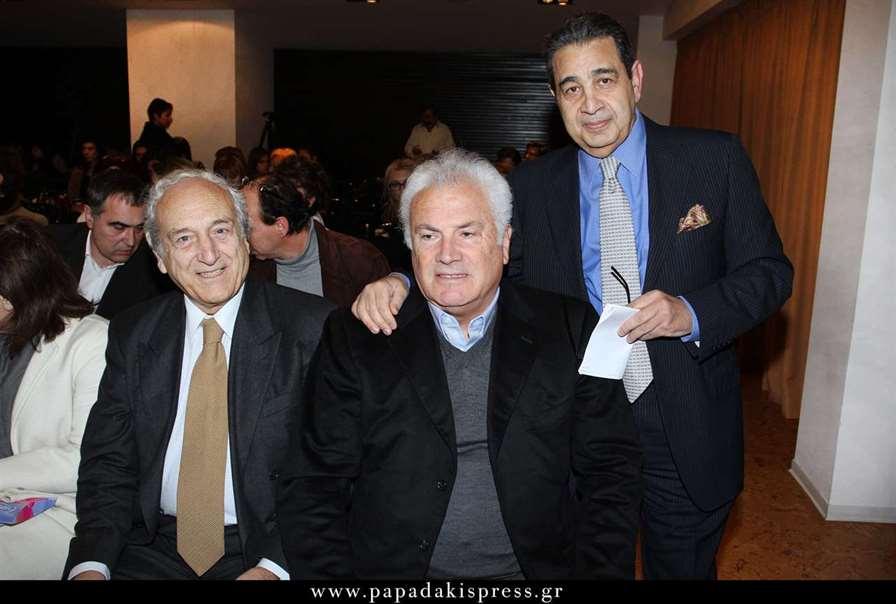 Από αριστερά Μάνος Μαυρίδης, Στέλιος Καραγεωργίου και Μιχάλης Παπαχαραλάμπους
