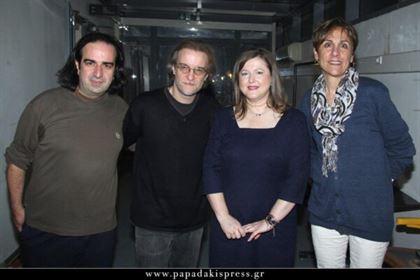 Από αριστερά Μιχάλης Κουμπιός, Μίλτος Πασχαλίδης, Δέσποινα Κατσώχη, Βανέσα Αδάμ