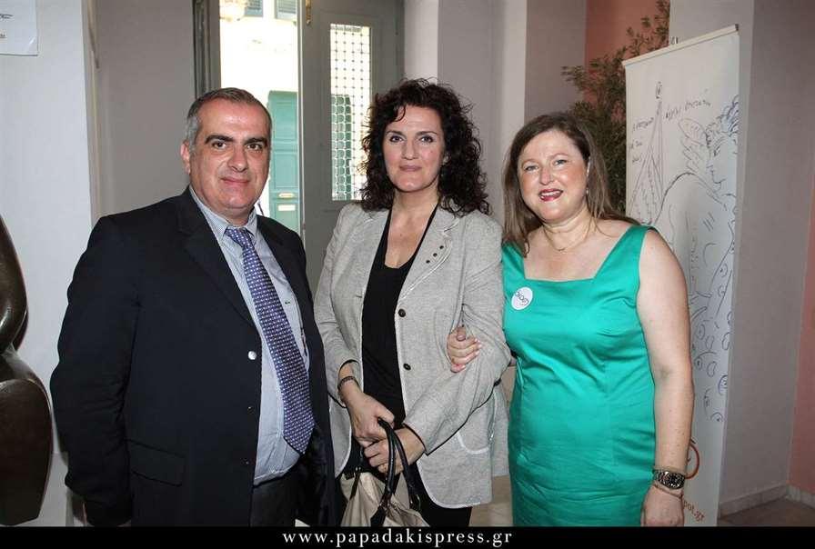 Από αριστερά Σπύρος Γκούβαλης, Κατερίνα Σκουτέλα και Δέσποινα Κατσώχη