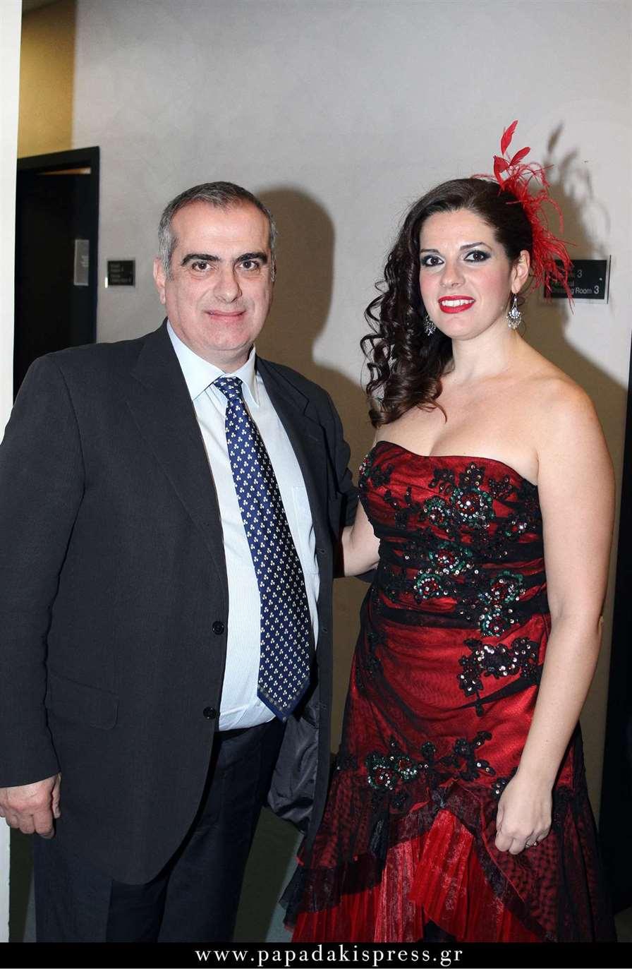 Ο Σπύρος Γκούβαλης και η μέτζο σοπράνο Ελένη Βουδουράκη