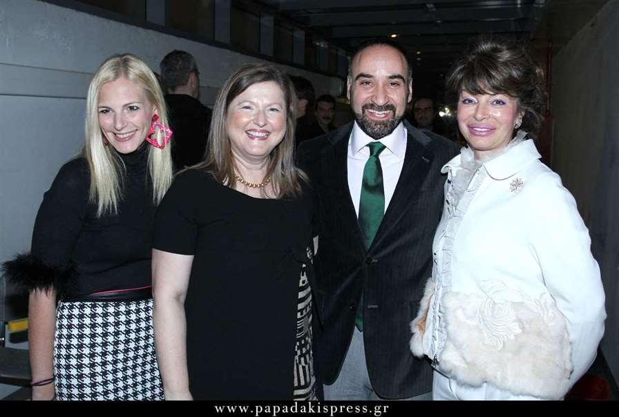 Από αριστερά Χρύσα Παρασκευοπούλου, η Πρόεδρος της ΑΚΟΣ Δέσποινα Κατσώχη, ο τενόρος Γιάννης Χριστόπουλος και η Νατάσσα Σεφέρη