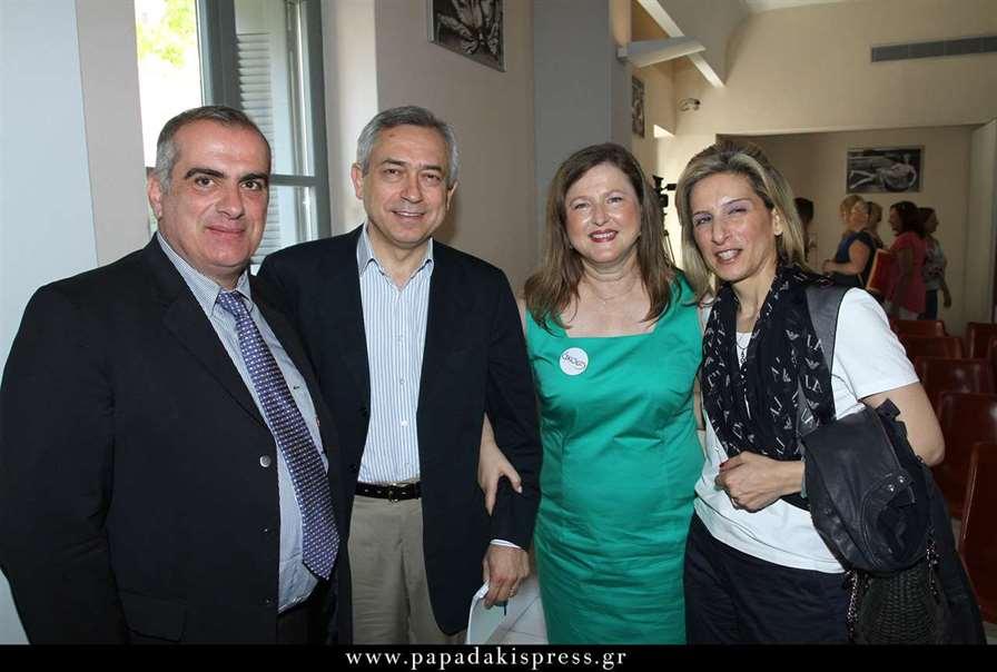 Από αριστερά οι Σπύρος Γκούβαλης, Γιώργος Δουκίδης, Δέσποινα Κατσώχη και Λίνα Βάντζιου