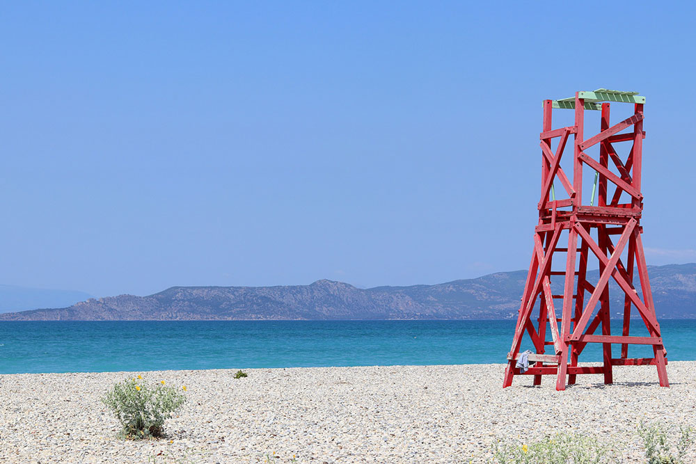 παραλία, ναυαγοσώστης, σημαδούρες, αλκοόλ, νερό, κολύμπι